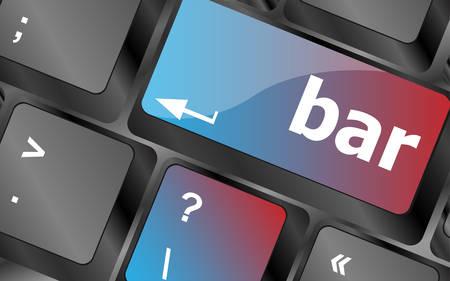 keyboard button: bar button on the digital keyboard keys vector, keyboard key, keyboard button, vector keyboard