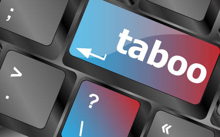 taboo: Computer keys spell out the word taboo vector, keyboard key, keyboard button, vector keyboard