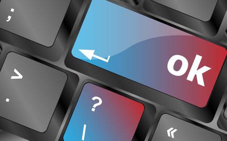 keyboard button: OK button on keyboard keys, business concept vector, keyboard key, keyboard button, vector keyboard