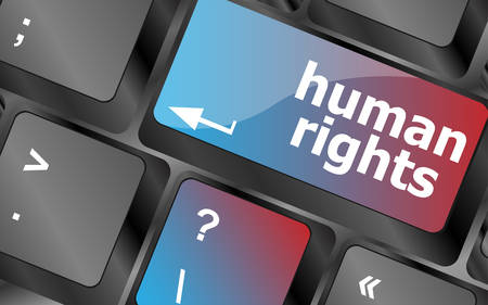 derechos humanos: arrow button with human rights word on it vector, keyboard key, keyboard button, vector keyboard