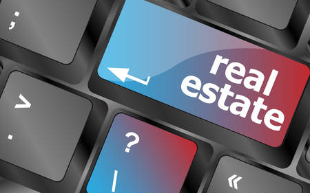 injunction: Real Estate concept. hot key on computer keyboard with Real Estate words vector, keyboard key, keyboard button, vector keyboard