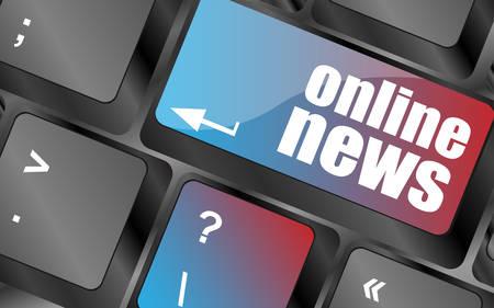 online news: online news button on computer keyboard key vector , keyboard keys, keyboard button