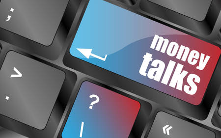 talks: money talks on computer keyboard key button vector , keyboard keys, keyboard button
