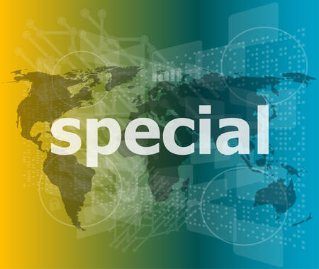 special education: Education concept: Special word on digital background vector illustration