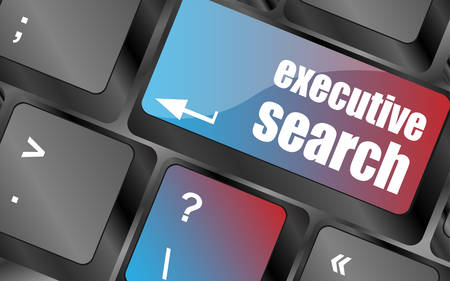 executive search: executive search button on the keyboard close-up, keyboard keys, keyboard button, keyboard icon