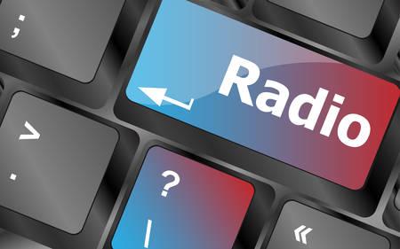 radio button: Radio button on a computer keyboard keys . keyboard keys. vector illustration