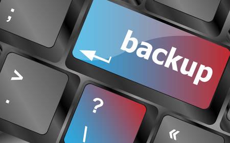 archiving: Backup computer key in for archiving and storage . keyboard keys. vector illustration Illustration