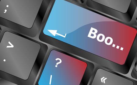 keyboard keys: boo word on computer keyboard keys . keyboard keys. vector illustration
