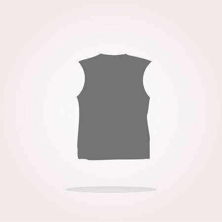 activewear: Clothes for women or man. T-shirt web icon isolated on white . Vector illustration. Vector Icon