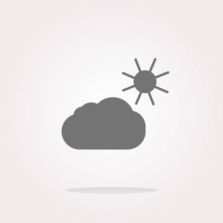 Weather app web icon isolated on white background . Vector illustration