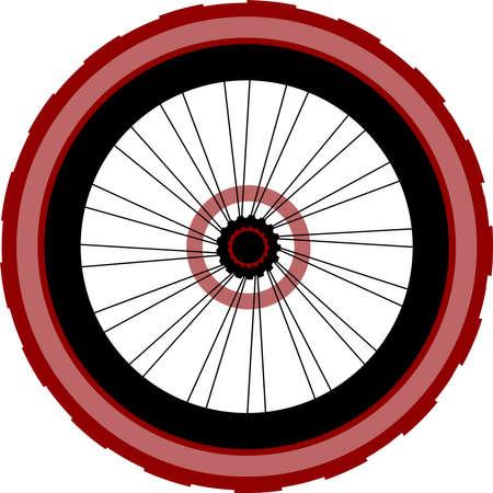 tangent: Single speed bicycle rear wheel Stock Photo