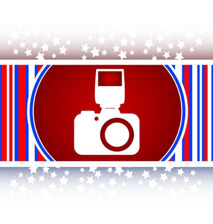 photo camera web icon, button