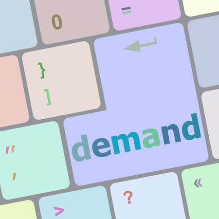demand: demand button on computer pc keyboard key
