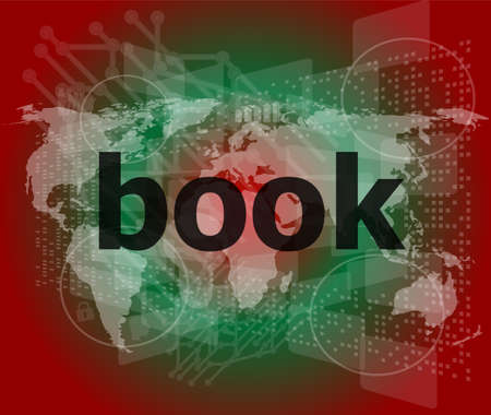 databank: book word on digital touch screen