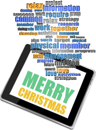 Smart phone with merry christmas greetings on the screen holiday smart phone with merry christmas greetings on the screen holiday card stock photo 64942229 m4hsunfo