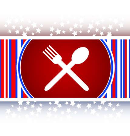 restaurant internet icon Stock Photo