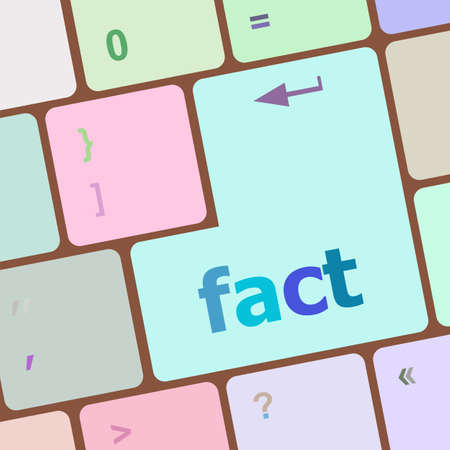fact: fact button on keyboard - business concept, raster Stock Photo
