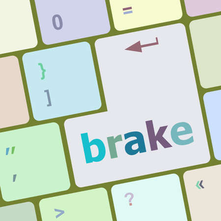 electronic voting: brake button on computer pc keyboard key