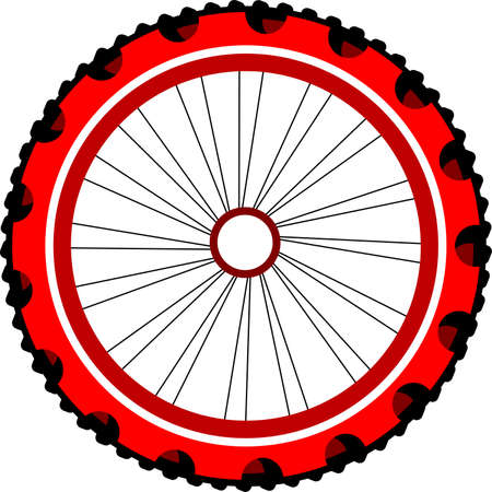 Bicycle wheel isolated on white Stock Photo