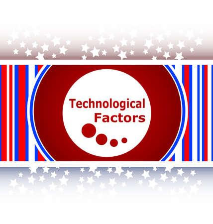 factors: technological factors web button, icon
