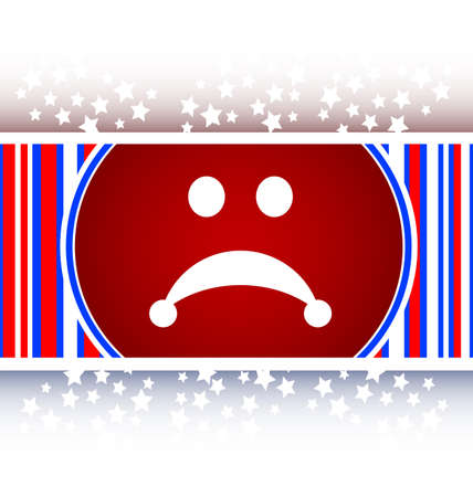 lugubrious: Sad icon button Stock Photo