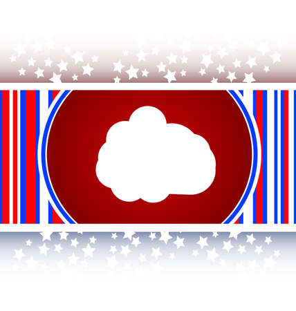 abstract cloud button, web icon