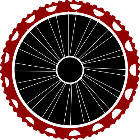 motorizado: Bicycle wheel isolated on white Foto de archivo