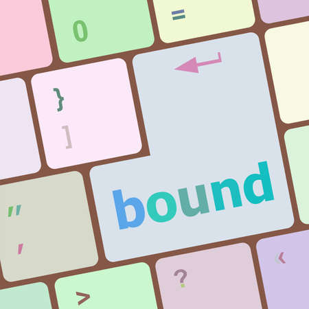 economic recovery: bound button on computer pc keyboard key