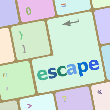 escape key: Computer keyboard key with escape word Stock Photo