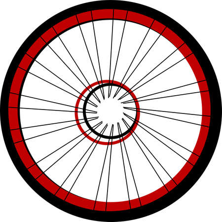 3d mode: Bicycle wheel isolated on white Stock Photo