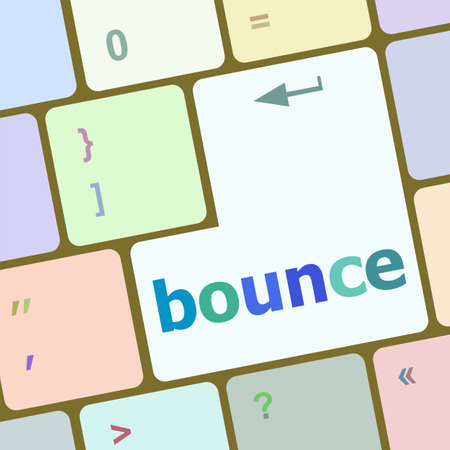 economic recovery: bounce button on computer pc keyboard key Stock Photo
