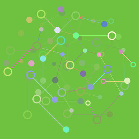 Social Network Graphic Concept. Molecule And Communication Background. Graphic Design Useful For Your Design