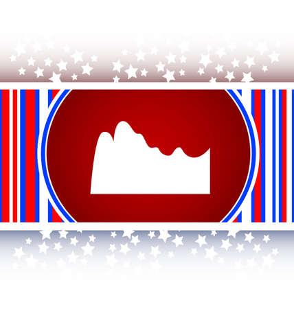 mountain on glossy web icon
