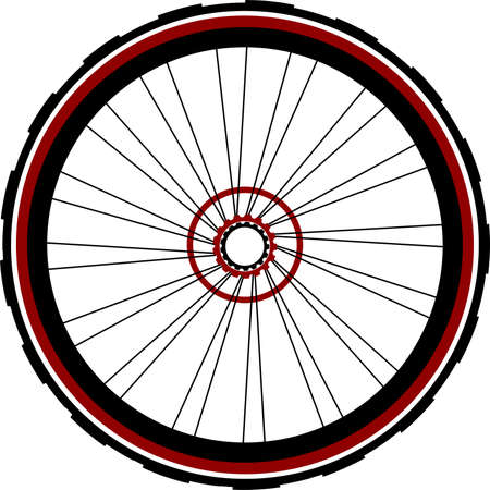 spokes: Single speed bicycle rear wheel Stock Photo