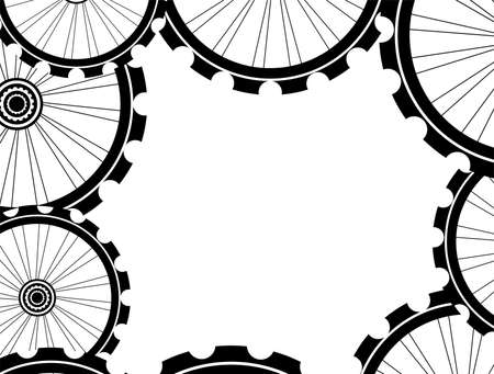 spokes: bike wheels background pattern. Pattern of bicycle wheels. bicycle wheels with tyre and spokes