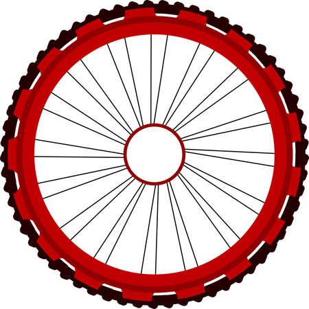 spokes: Bicycle wheel isolated on white Stock Photo