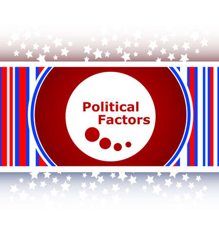 factors: political factors web button, icon