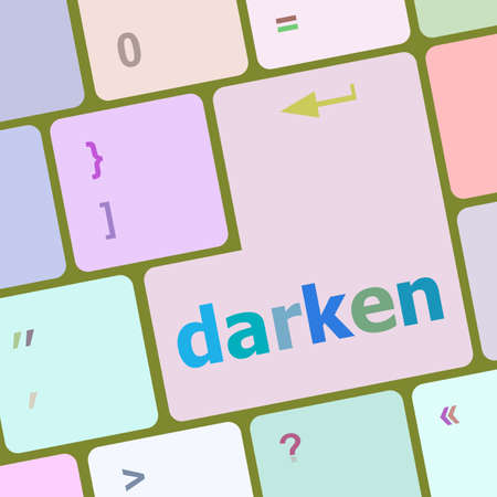 darken: darken word on computer keyboard key