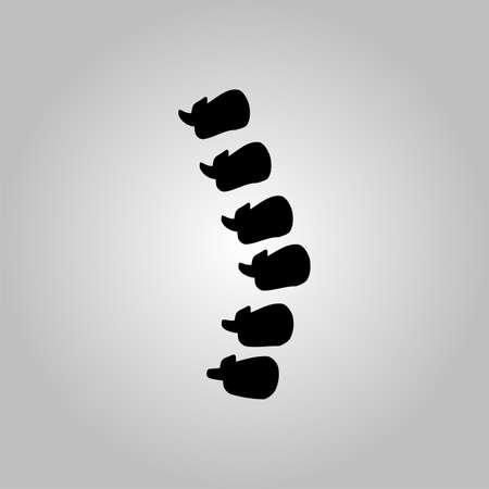 massage symbol: Spine diagnostics symbol design