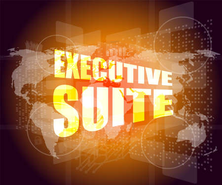 executive suite, interface hi technology, touch screen Stock Photo