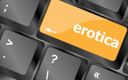 erotica button on computer pc keyboard key Stock Photo