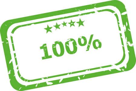 100% rubber stamp over a white background. Banco de Imagens - 76761952