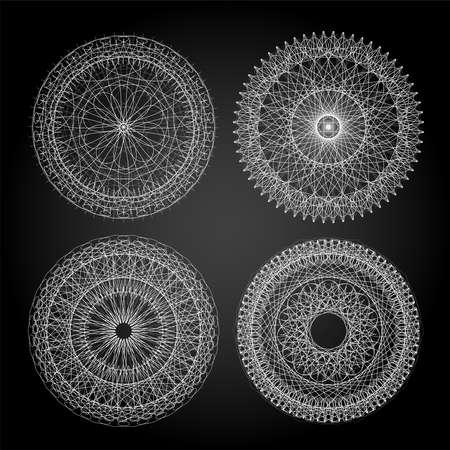 Mandala For Painting. Circle Ornament. Design Element. Guilloche Stock Photo