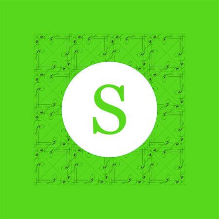 Simple and graceful floral monogram design template. Elegant lineart logo design