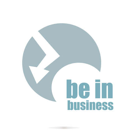 be the identity: Business concept. words be in business . Graphic Design For Your Design. Unusual Flat Logo