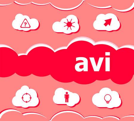 mpg: digital concept. avi word on digital screen