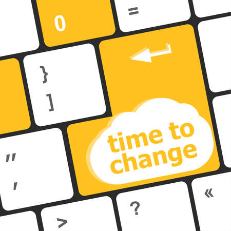 Time concept: computer keyboard word Time to change Stock Photo