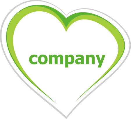 romance strategies: Business concept, company word on love heart on white Stock Photo