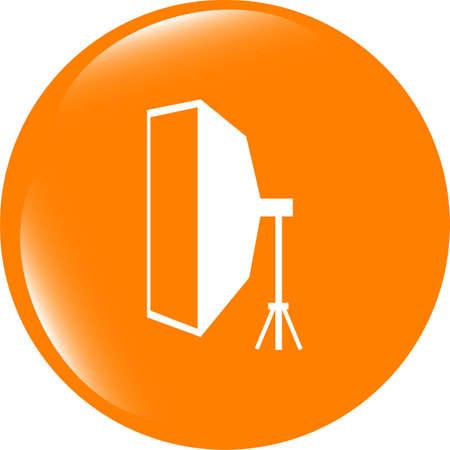 softbox web icon . Trendy flat style sign isolated on white background