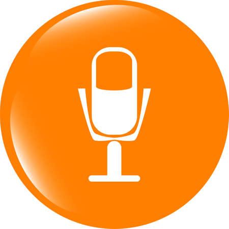 Mikrofon-Symbol Web-Schaltfläche Auf Weißem Hintergrund Lizenzfreie ...